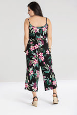 Tropical Paradise Jumpsuit Black