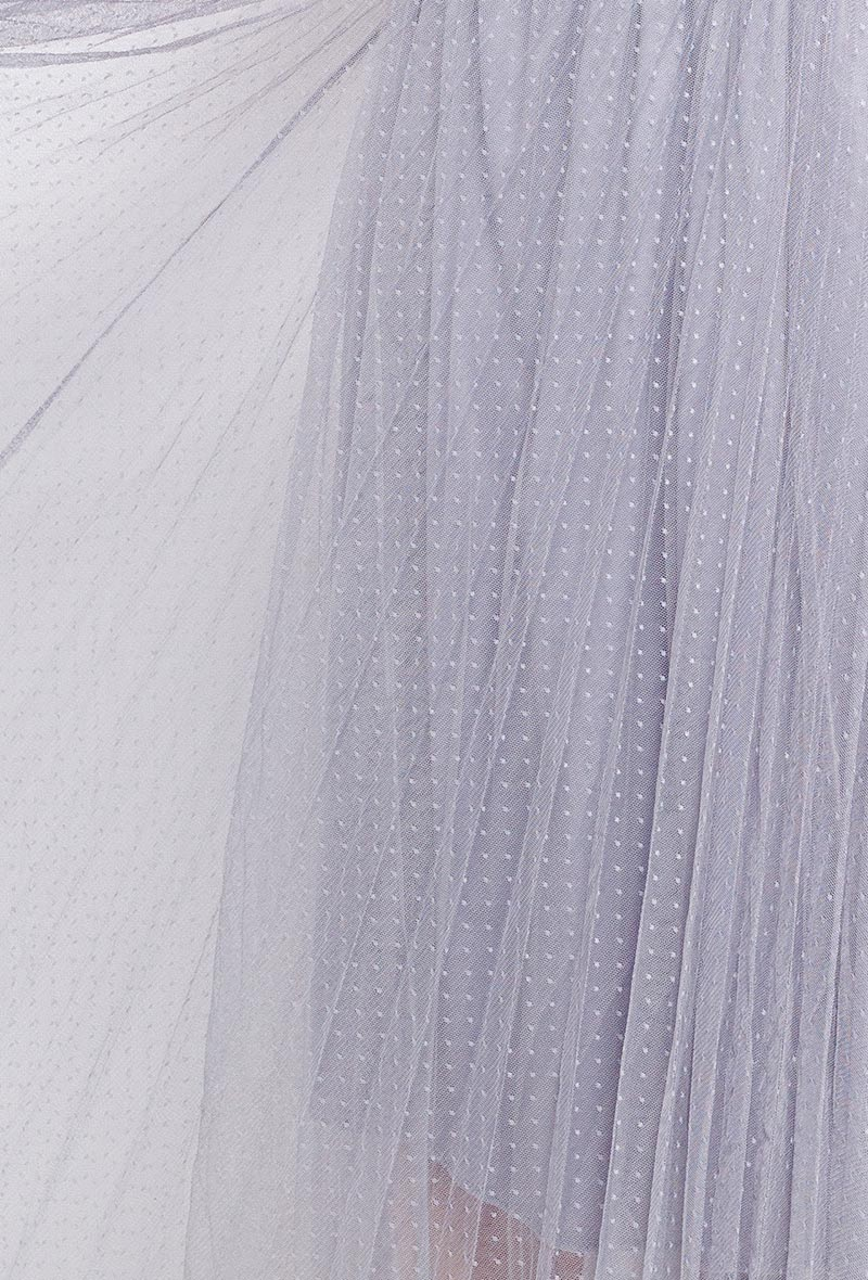 Romantic Tulle Skirt in Dove Grey