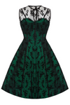 Clarence and Alabama - Voodoo Vixen, Penny Taffeta Lace 1950s Vintage style Party Dress