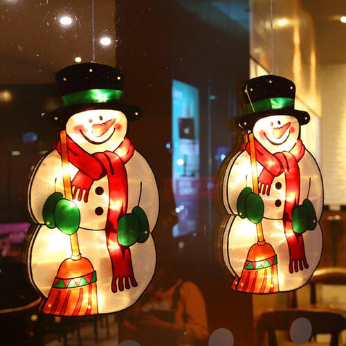 Christmas Decoration Window LED Silhouette Lights - Go to the Cupboard