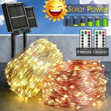 Load image into Gallery viewer, LED Outdoor Solar String Lights With Remote Control - Go to the Cupboard