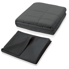 Load image into Gallery viewer, Therapeutic Weighted Blanket Bundle - Grey - Go to the Cupboard