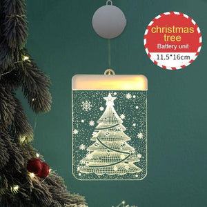 3D Christmas Theme Hanging Lights - Go to the Cupboard