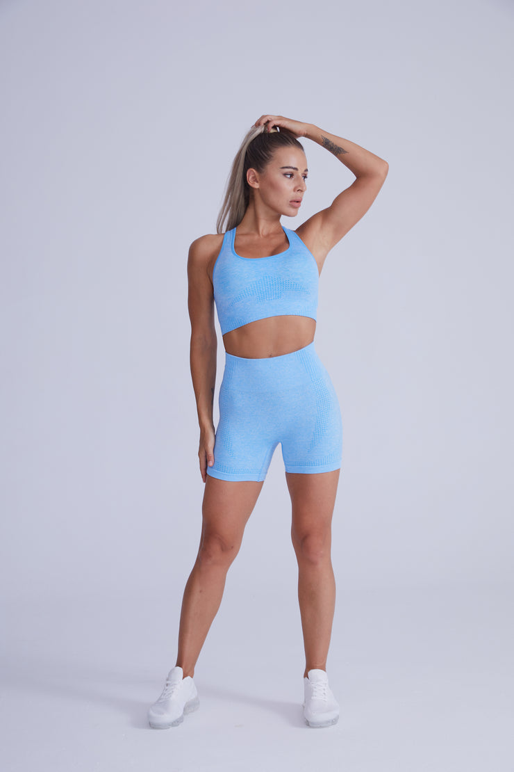 Excel Seamless Short Set - Light Blue