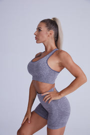Excel Seamless Short Set - Grey