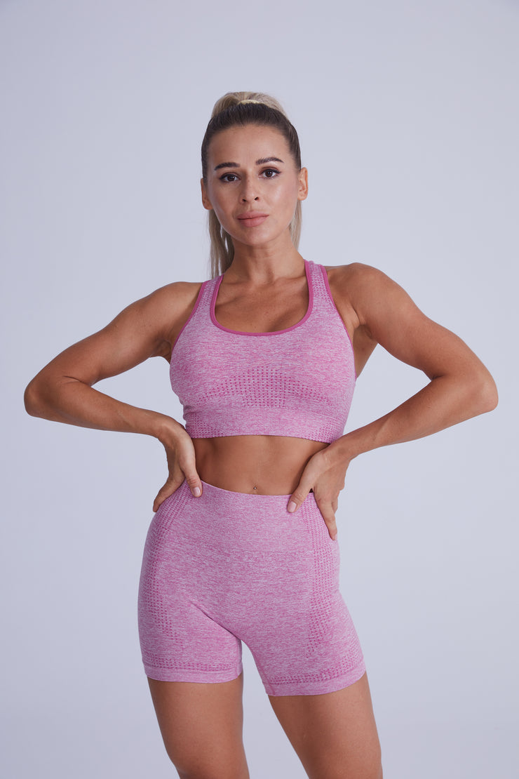 Excel Seamless Short Set - Pink