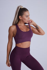 Active Core Highwaisted Set - Purple Plum