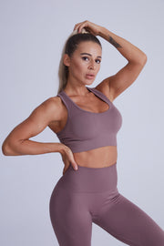 Active Core Highwaisted Set - Fawn Brown