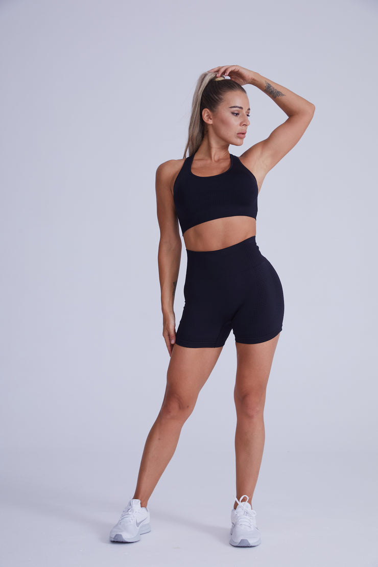 Excel Seamless Short Set - Black