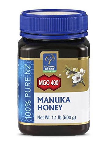 Manuka Health - MGO 400+ Manuka Honey, 100% Pure New Zealand Honey, 1.1 lbs (500 g) (FFP)