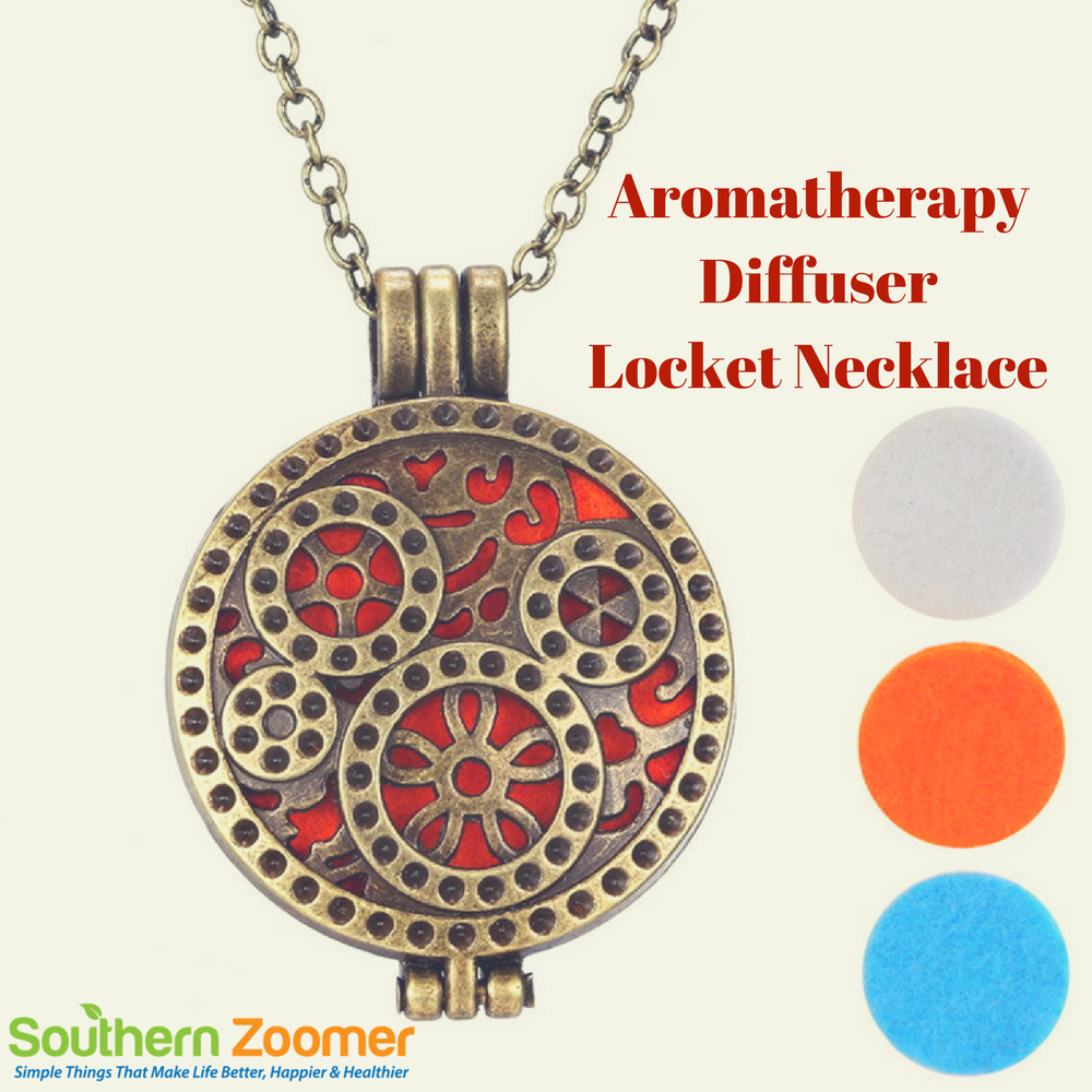 Aromatherapy Diffuser Locket Necklace For Essential Oils