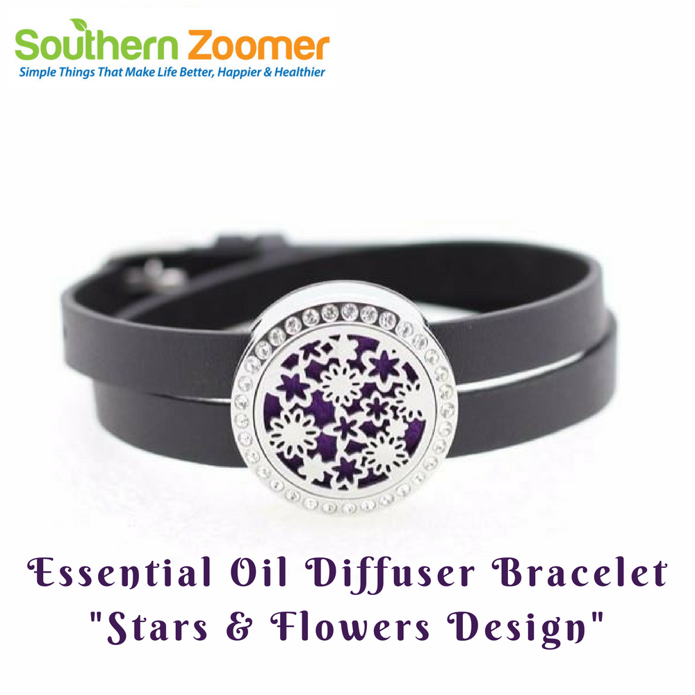 Essential Oil Diffuser Bracelet With Czech Crystals