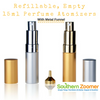 Perfume Atomizers (15ml) - Gold & Silver with Metal Funnel
