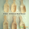 All-Natural Wood Scoops - Pack of 6