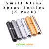 Small Glass Spray Bottles (Pack of 6)