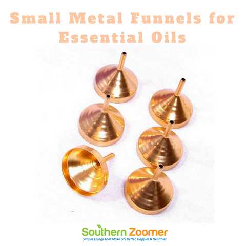 Small Metal Funnels [Pack of 6]