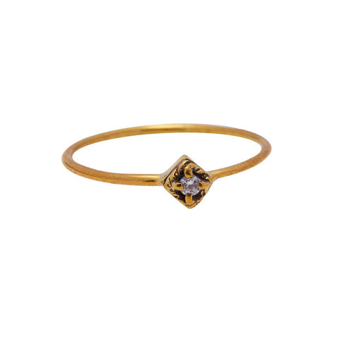Xzota Ring Brass Dreamer Gold Plated