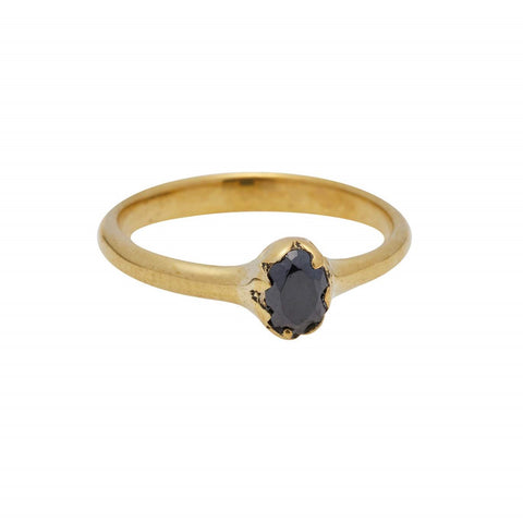 Xzota Ring Brass Onyx Dream Gold Plated