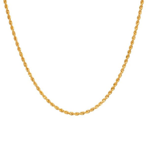 Eline Rosina Twisted Rope Necklace In Gold Plated Sterling Silver