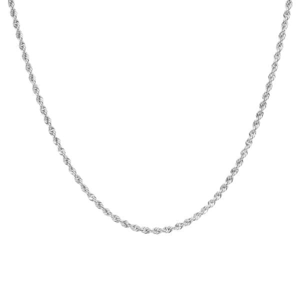 Eline Rosina Twisted Rope Necklace In Sterling Silver