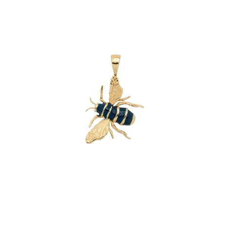 Trendjuwelier Bemelmans - Anna+Nina Honey Bee Necklace Charm Goldplated