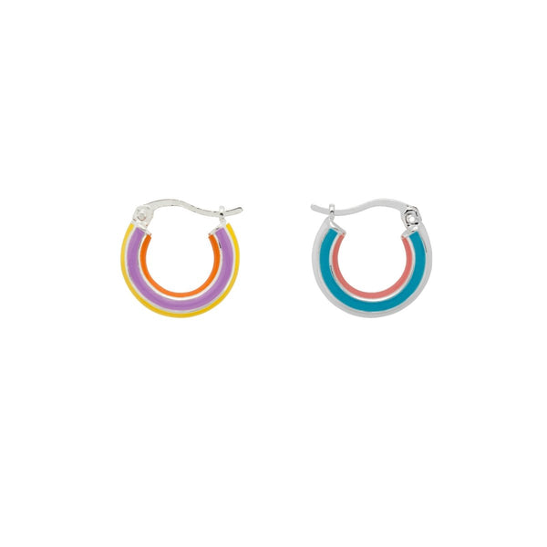 Trendjuwelier Bemelmans - Anna+Nina Rainbow Hoop Earrings BSP