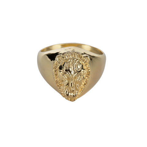 Trendjuwelier Bemelmans - Betty Bogaers Lion Signet Ring Gold Plated