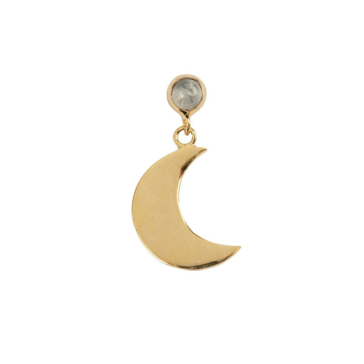 Trendjuwelier Bemelmans - Betty Bogaers Sun and Moon Moonstone Stud Earring Gold Plated 2