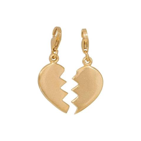 Trendjuwelier Bemelmans - Eline Rosina Broken Heart Charms in goldplated sterling zilver