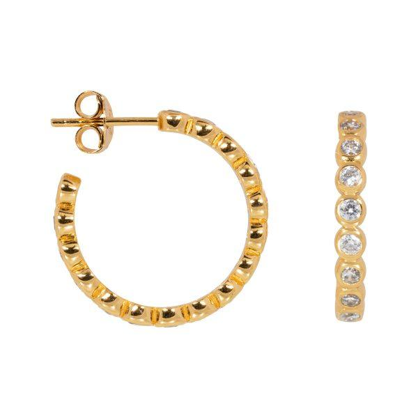 Trendjuwelier Bemelmans - Eline Rosina Bubble Hoops In Gold Plated Sterling Silver