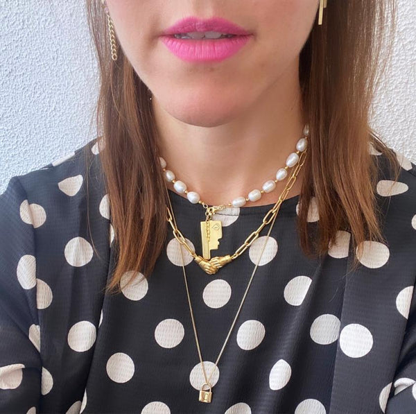 Trendjuwelier Bemelmans - Eline Rosina Limited Freshwater Pearl Necklace In Gold Plated