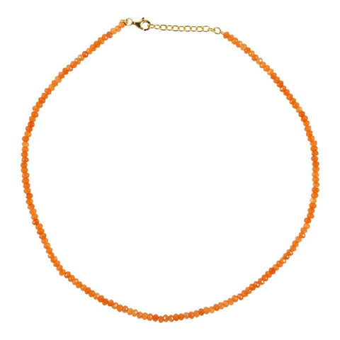 Trendjuwelier Bemelmans - Eline Rosina Orange Gemstone Necklace In Gold Plated Sterling Silver