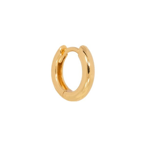 Trendjuwelier Bemelmans - Eline Rosina Single Plain Huggie Hoop In Gold Plated Sterling Silver