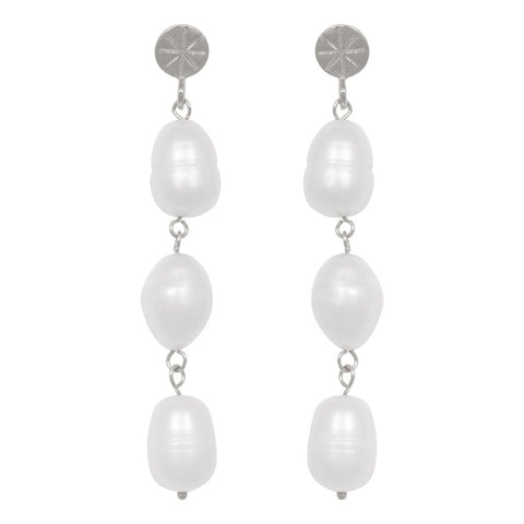 Trendjuwelier Bemelmans - Eline Rosina Statement Freshwater Pearl Earrings In Sterling Silver