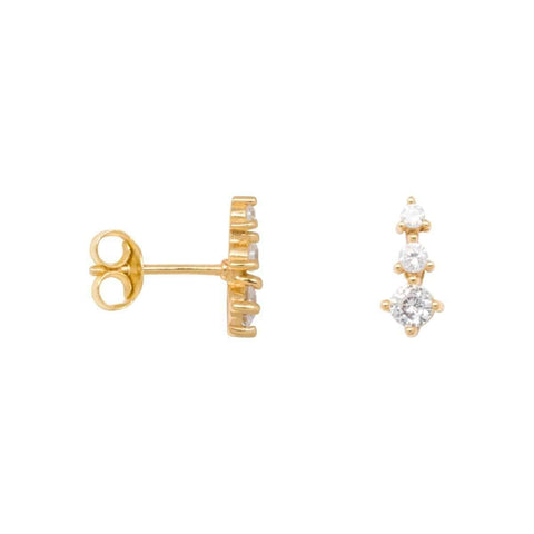 Trendjuwelier Bemelmans - Eline Rosina Zirconia Cone Earrings in goldplated sterling silver