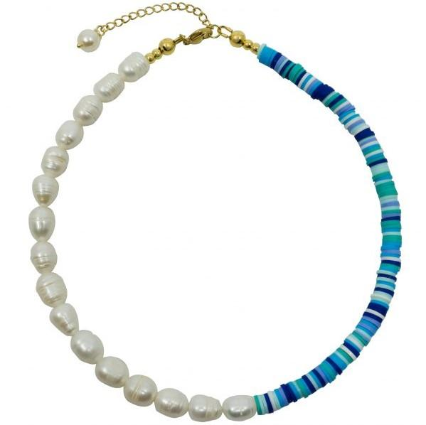 Trendjuwelier Bemelmans - Mathe Jewellery Surf's Up Necklace Bleu