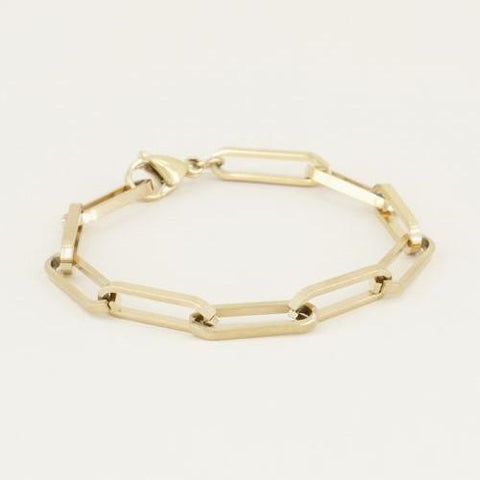 Trendjuwelier Bemelmans - My Jewellery Armband Bulky Chain Gold Plated