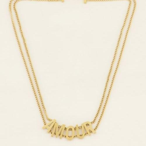 Trendjuwelier Bemelmans - My Jewellery Ketting Amour Gold Plated