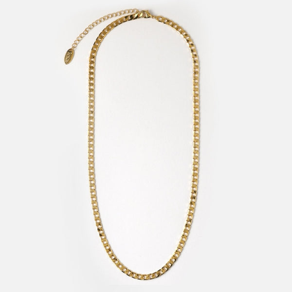 Trendjuwelier Bemelmans - Orelia Flat Link Curb Chain Necklace Goldplated