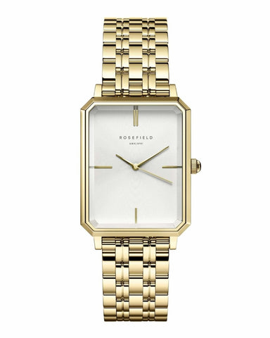 Trendjuwelier Bemelmans - Rosefield The Elles White Sunray Steel Gold