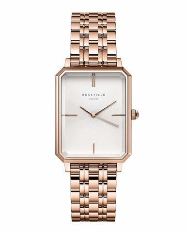 Trendjuwelier Bemelmans - Rosefield The Elles White Sunray Steel Rose gold