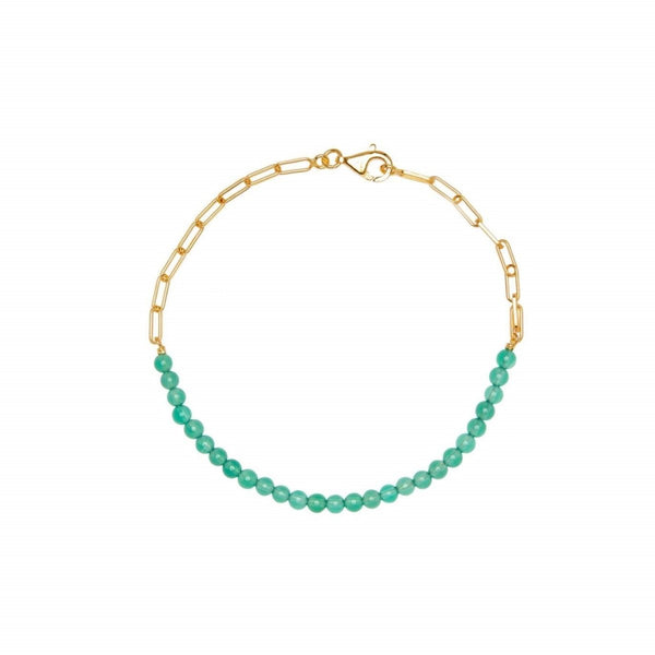 Trendjuwelier Bemelmans - Xzota Bracelet Green Dream Gold Plated