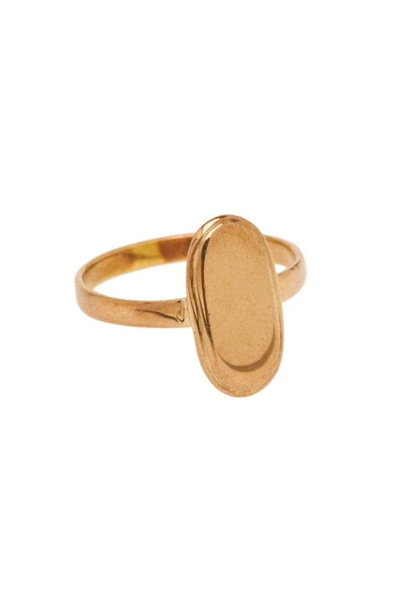 Trendjuwelier Bemelmans - Xzota Brass Ring Big Oval
