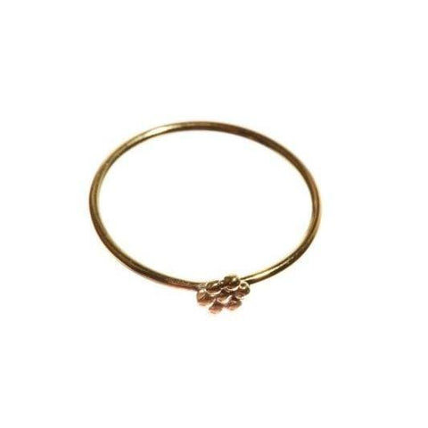 Trendjuwelier Bemelmans - Xzota Ring Small Flower Brass