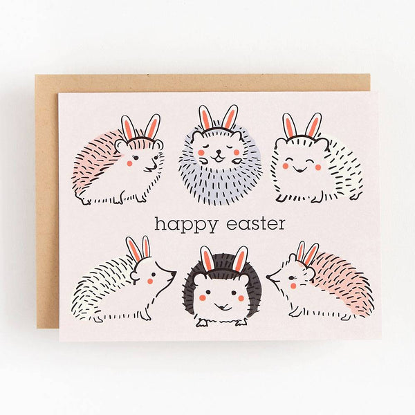 Bunny Hedgehogs Easter Card