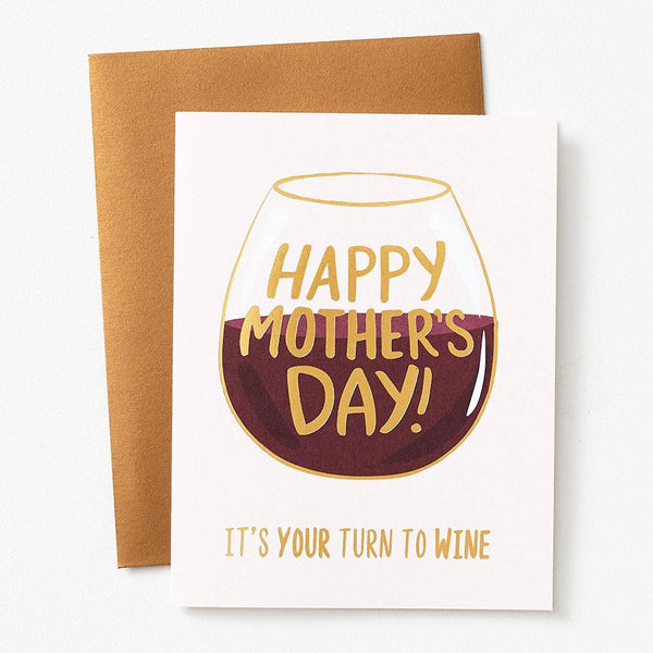 Turn to Wine Mother's Day Card