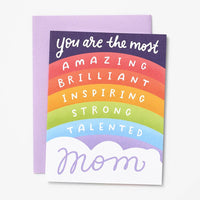 Rainbow Affirmation Mother's Day Card