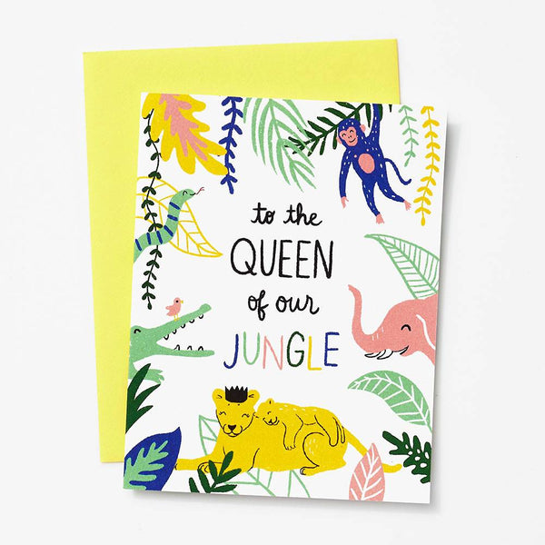 Queen of the Jungle Mother's Day Card