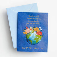 Floral Earth Mother's Day Card