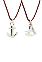 Friendship Necklace - Anchor To My Boat